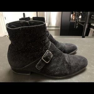 Mens Alexander McQueen Black Suede Chelsea Boots